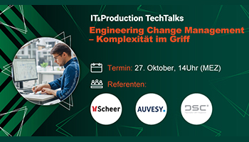 """IT&Production TechTalk """"Engineering Change Management – Komplexität im Griff"""""""